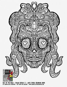 Free Printable Skull Coloring Pages - Coloring Page Genial Skull Ausmalbilder 4d