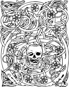 Free Printable Skull Coloring Pages - Skull Adult Coloring Pages Lovable Cool Coloring Page for Adult Od Kids Simple Floral Heart with 17d