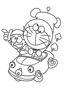 Free Printable Strawberry Coloring Pages - Fruits Coloring Pages Doraemon In Car Coloring Pages for Kids Printable Free Doraemon 9a