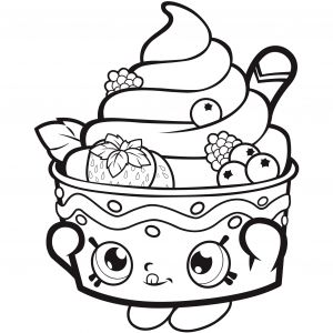 Free Printable Strawberry Coloring Pages - Download Free Shopkins Coloring Page 4q