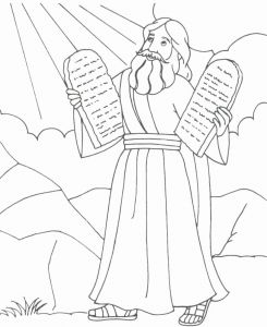 Free Printable Ten Commandments Coloring Pages - Coloring Pages Ten Mandments Moses Coloring Pages 11h