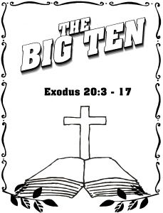 Free Printable Ten Commandments Coloring Pages - the Big Ten Ten Ten Mandments Football Coloring Pages 11k