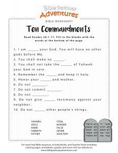 Free Printable Ten Commandments Coloring Pages - Ten Mandments Worksheet for Kids 6p