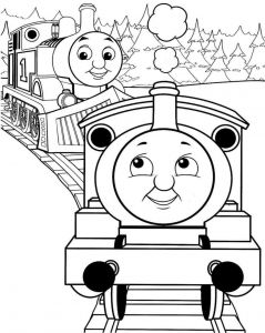 Free Thomas Train Coloring Pages - Simple Thomas the Train Coloring Pages · Thomas the Train Coloring 15m