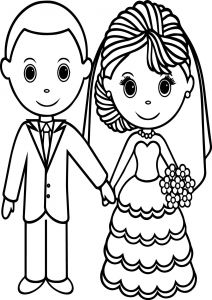 Free Wedding Coloring Pages to Print - Printable Bride and Groom Coloring Pages Free Wedding Coloring Pages to Print Lovely Bride and Groom Coloring 1s