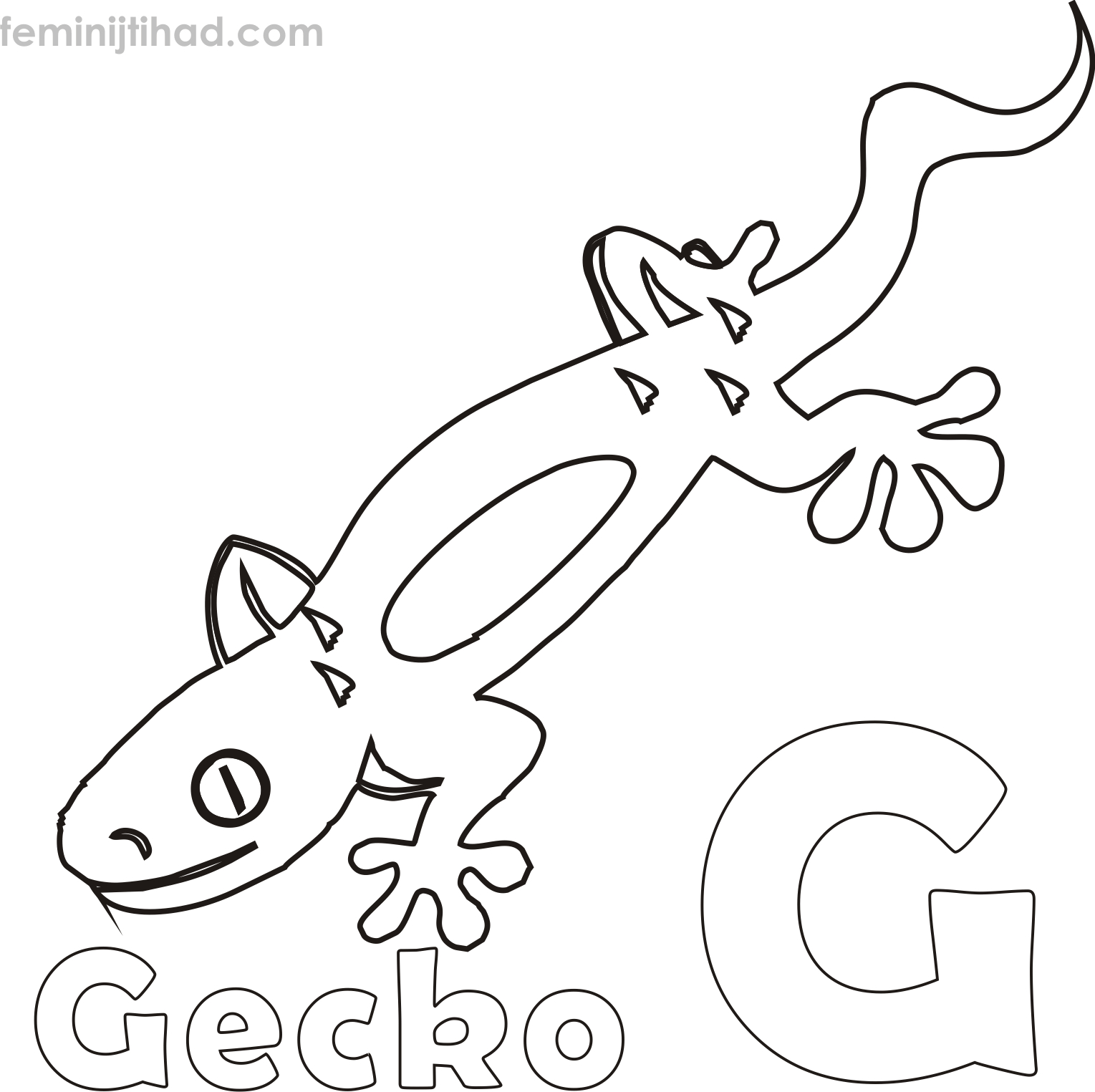 gecko coloring pages Download-Free Gecko Coloring Page 2-t