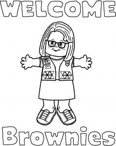 Girl Scout Coloring Pages - Girl Scout Coloring Pages Wel E Signs for Daisies and Brownies 2b