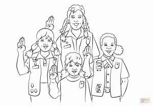 Girl Scout Coloring Pages Cookies - Girl Scout Cookie Coloring Page Free 1t