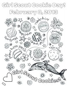 Girl Scout Coloring Pages Cookies - Girl Scout Cookie Coloring Page Collection Printable Coloring Pages 18g