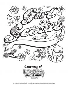 Girl Scout Coloring Pages Cookies - Free Printable Girl Scout Cookie Coloring Pages Image at Coloring Page Png 791x1024 Girl Scout Clipart 17c
