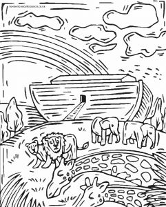 God's Promise Rainbow Coloring Pages - Inspirational Ark Coloring Pages with Additional for Kids Noah and 14t