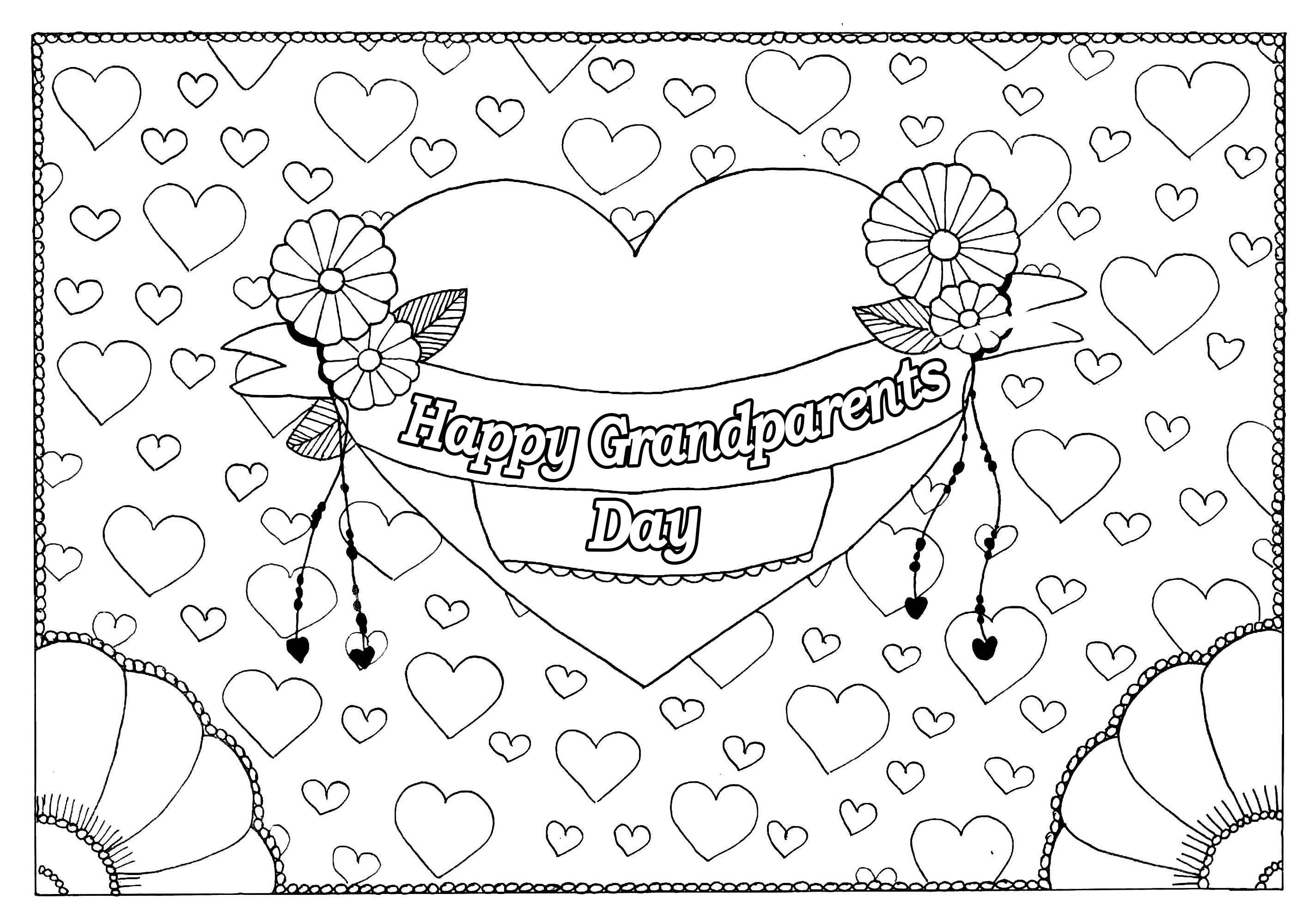 grandparents day coloring pages Collection-Love My Grandparents Day Coloring Pages 8-r