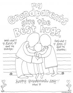 Grandparents Day Coloring Pages - Grandparent Coloring Pages for Grandparents Day 1j