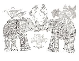 Grandparents Day Coloring Pages - Grandparents Day Printable Coloring Pages Coloring Pages for Grandparents Day Luxury World Elephant Day 15g