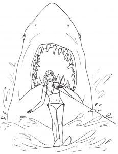 Great White Shark Coloring Pages - Educations Thanksgiving Shark Coloring Pages 6 Pin by Patricia R 2 Color Pinterest 20k