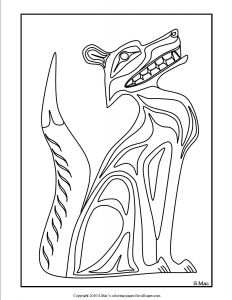 Haida Art Coloring Pages - northwest Native American Animal Art Photo 27 15o