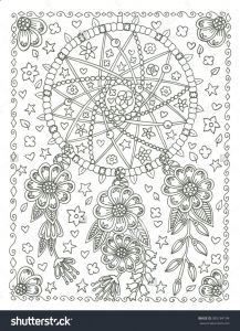 Haida Art Coloring Pages - Dream Catcher Coloring Page Dream Catcher Coloring Pages Mandala Coloring Pages Adult Coloring Pages 4p