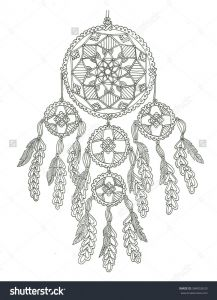 Haida Art Coloring Pages - Dream Catcher Coloring Page 9p
