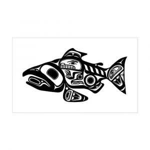 Haida Art Coloring Pages - Amazon Cafepress Salmon Native American Design Sticker Rectangle Rectangle Bumper Sticker Car Decal Home & Kitchen 5o