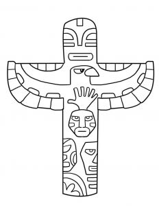 Haida Art Coloring Pages - totem Pole Coloring Pages 1h