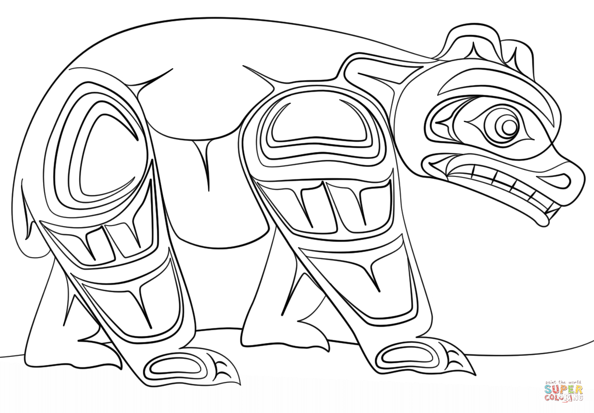 haida art coloring pages Download-Image result for aboriginal children coloring pages printable Haida Art 18-s