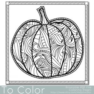 Halloween Coloring Pages Pdf - Adult Halloween Coloring Pages Patterned Pumpkin Coloring Page for Adults Instant Download 17n
