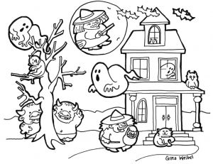 Halloween Coloring Pages Pdf - Halloween Coloring Pages Hard Drawing for Kids at Drawings Book 1024x790 Gina Coloring Pages 3a