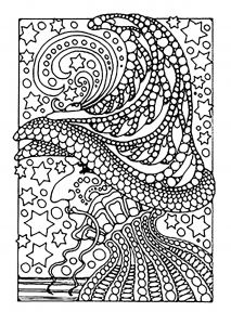 Halloween Costumes Coloring Pages - A Scary Witch Color All these Stars From the Gallery events Halloween 11t
