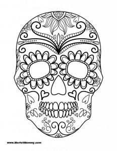 Halloween Skeleton Coloring Pages - 12 Pics Of Halloween Sugar Skull Coloring Pages Sugar Skull 11f