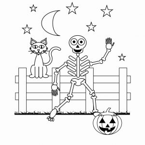 Halloween Skeleton Coloring Pages - Halloween Skeleton Coloring Pages New Halloween Skeleton Coloring Pages Heathermarxgallery 13d