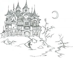 Halloween Skeleton Coloring Pages - Adult Vampire Coloring Pages 18b