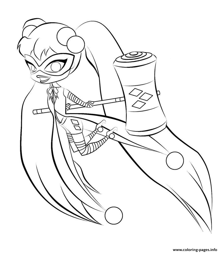 harley quinn coloring pages printable Download-Harley Quinn Coloring Page 20-a