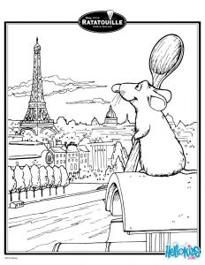 Hello Kids Coloring Pages - Ratatouille In Paris Coloring Page 935 9l