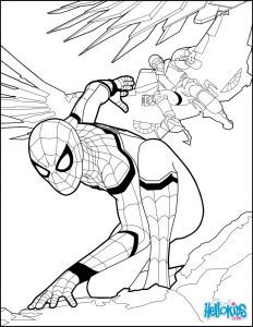 Hello Kids Coloring Pages - Spiderman Coloring Page From the New Spiderman Movie Home Ing More Spiderman Coloring Sheets On Hellokids 6d
