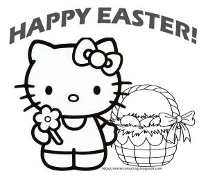 Hello Kitty Free Printable Coloring Pages - Hello Kitty Happy Easter Coloring Pages Holiday Coloring Easter Coloring Pages Free Printable 10t