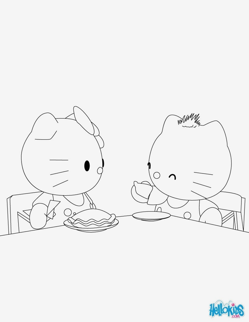 hello kitty printable coloring pages 7b