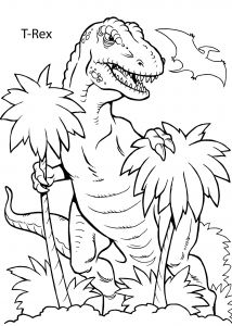 Hiking Coloring Pages - T Rex Dinosaur Coloring Pages for Kids Printable Free 2c