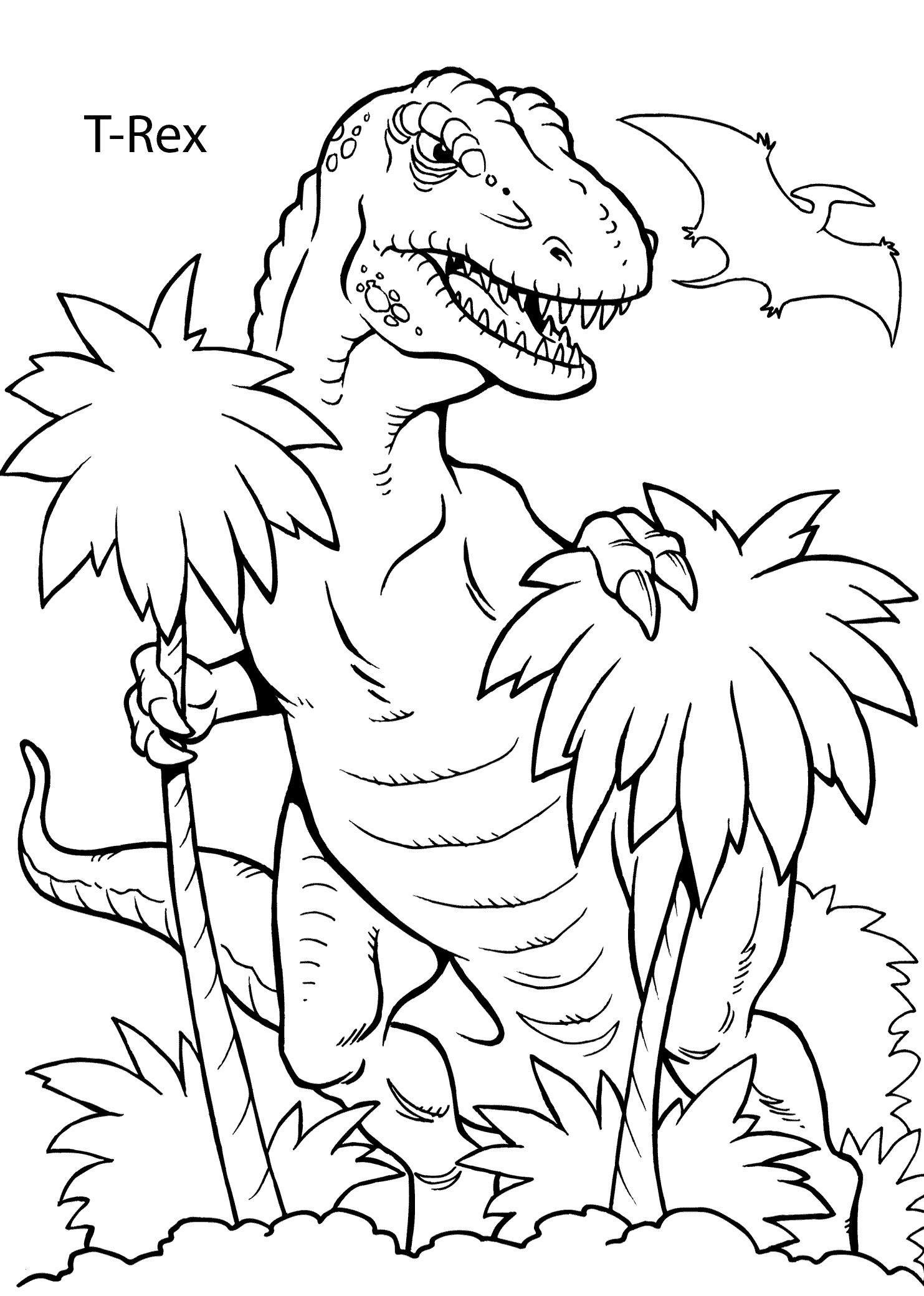 hiking coloring pages Collection-T Rex dinosaur coloring pages for kids printable free 4-f