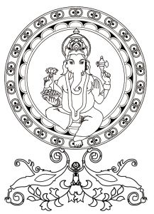 Hindu Gods Coloring Pages - Ganesh From the Gallery India Adult Coloring Book Pages Printable Adult Coloring Pages 11s