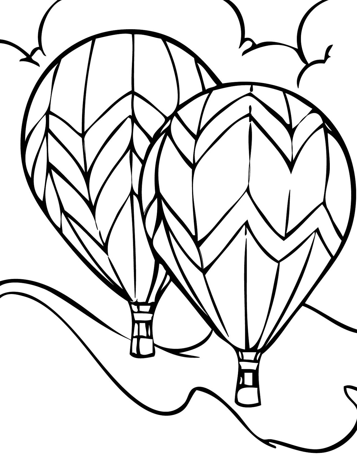 hot air balloon coloring pages Download-Hot Air Balloons Coloring Pages 12-a