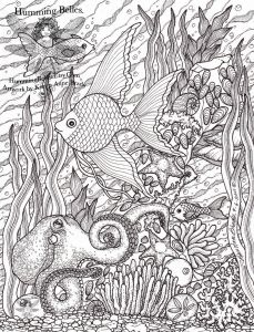 "Humming Belles Coloring Pages - Humming Belles"" New Undersea Illustrations and Coloring Pages 9f"