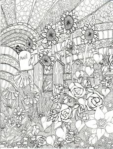 Humming Belles Coloring Pages - Late Summer Garden Coloring Page Ink Illustration Life In Line Art $2 50 Etsy 16n