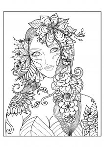 Humming Belles Coloring Pages - Detailed Coloring Pages for Adults 4o