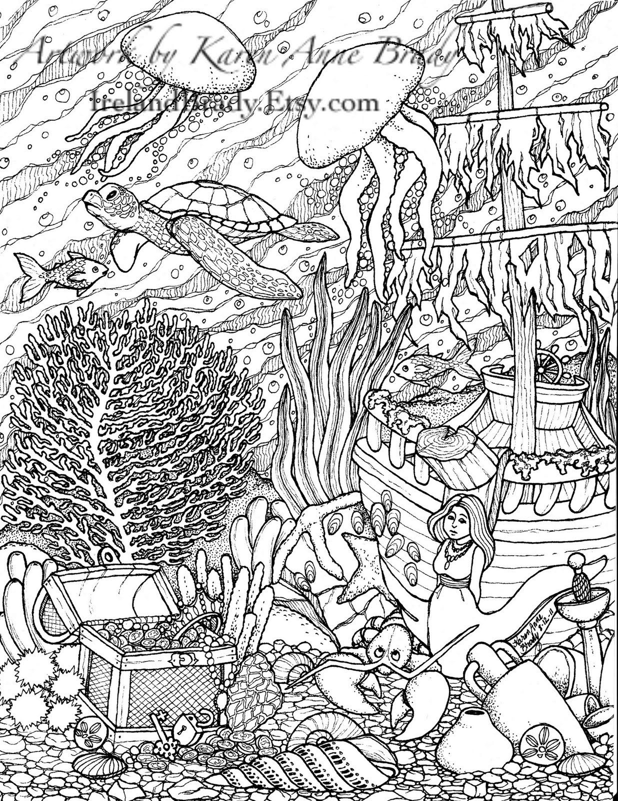 "humming belles coloring pages Collection-Humming Belles"" Undersea Coloring Panel Number Three 20-i"