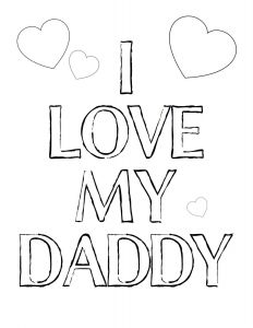 I Love My Mommy Coloring Pages - I Love You Daddy Coloring Pages 12c