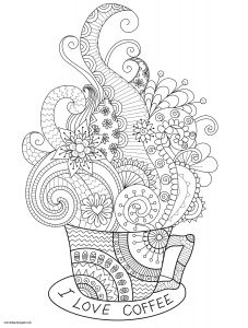Ice Cream Coloring Pages - Ice Cream Coloring Pages to Print Free Beautiful I Love Coffee Adult Coloring Page You Can 3o