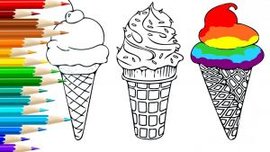 Ice Cream Coloring Pages - How to Draw Ice Cream Coloring Pages for Kids Drawing Art for Children 5r