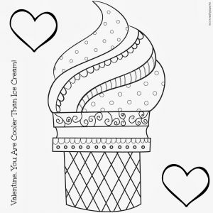Ice Cream Coloring Pages - Coloring Pages Ice Cream Cones 3b