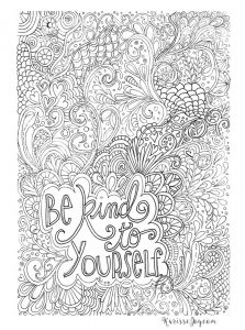 Inspirational Quote Coloring Pages - Printable Difficult Coloring Page 1i