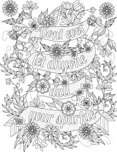 Inspiring Quotes Coloring Pages - Free Inspirational Quote Adult Coloring Book Image From Liltkids See More Free Adult Coloring Book Images at Liltkids Pin now Color Later 16a